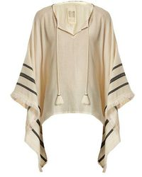 Velvet By Graham & Spencer - Petunia Embroidered Cotton Poncho Top - Lyst