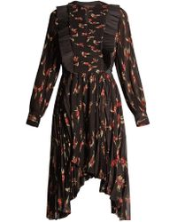 Isabel Marant - Wesley Floral-print Pleated Dress - Lyst