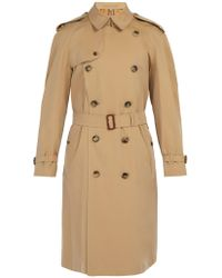 Burberry - Westminster Double Breasted Gabardine Trench Coat - Lyst