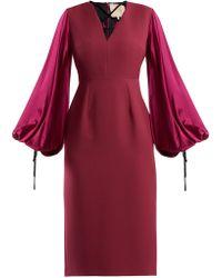 ROKSANDA - Darya Blouson Sleeve Crepe Dress - Lyst