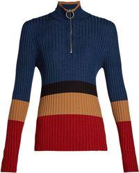 Marni - High Neck Colour Block Sweater - Lyst