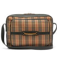 Burberry - 1983 Check Canvas And Leather Camera Bag - Lyst