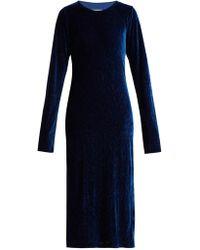 MM6 by Maison Martin Margiela - Velvet Dress - Lyst