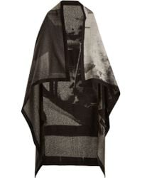 Mary McCartney - Listen-print Wool And Silk-blend Scarf - Lyst