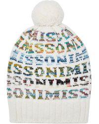 f77d17a23f8 Missoni - Logo Knit Wool Beanie Hat - Lyst