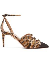 Aquazzura - Mondaine 85 Leopard-print Court Shoes - Lyst