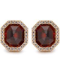 Monique Péan | Diamond, Garnet & White-gold Earrings | Lyst