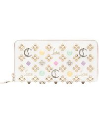 Christian Louboutin - Panettone Embellished Zip-around Leather Wallet - Lyst