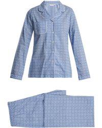 Derek Rose - Ledbury 5 Cotton Pyjama Set - Lyst