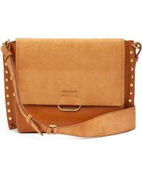 Isabel Marant - Asli Studded Leather Shoulder Bag - Lyst