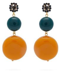 Marni - Circle And Flower Drop Earrings - Lyst