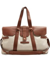 Brunello Cucinelli - Canvas And Leather Holdall - Lyst
