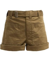 Proenza Schouler - Utility Cotton Blend Twill Shorts - Lyst