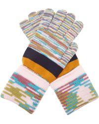 Missoni - Striped Wool Gloves - Lyst