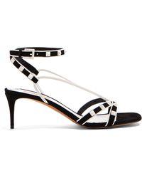 Valentino - Free Rockstud Suede Sandals - Lyst