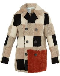Off-White c/o Virgil Abloh - Chequered Shearling Coat - Lyst