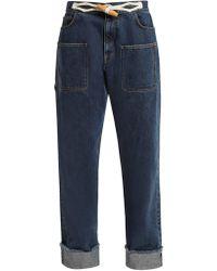 JW Anderson - Dark Blue Straight-leg Jeans - Lyst
