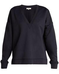 Tibi - Ribbed Jersey V Neck Sweatshirt - Lyst