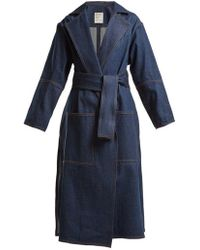 Maison Rabih Kayrouz - Notch-lapel Denim Coat - Lyst