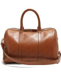 Stella McCartney - Logo-pattern Faux-leather Holdall - Lyst