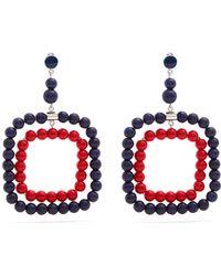 Marni - Beaded Square-hoop Earrings - Lyst