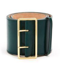 Alexander McQueen - Wide Leather Waist Belt - Lyst