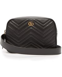 Gucci - Gg Marmont Quilted-leather Belt Bag - Lyst