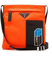 Prada - Logo-plaque Nylon Cross-body Bag - Lyst