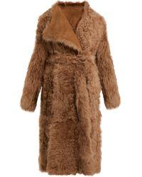 Yves Salomon - Wrap Front Shearling Coat - Lyst