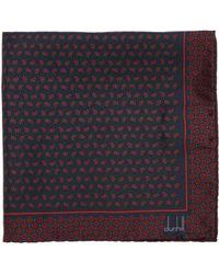 Dunhill - Paisley Print Silk Pocket Square - Lyst