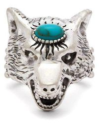 Gucci - Anger Forest Wolf Sterling-silver Ring - Lyst