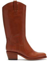 A.P.C. - Bottes en cuir style western Nina - Lyst