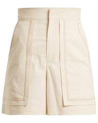 Isabel Marant - Lucky High-rise Cotton-blend Shorts - Lyst