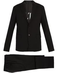 Valentino - Single Breasted Wool Blend Suit - Lyst