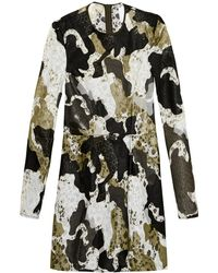 Danielle Romeril - Camouflage-effect Appliqué And Lace Dress - Lyst