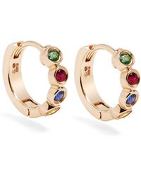 Alison Lou | Sapphire, Ruby, Emerald & Gold Twister Earrings | Lyst