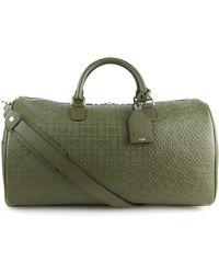 Loewe - Leather Embossed Weekend Bag - Lyst
