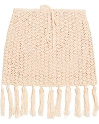 Anna Kosturova - Tassel-hemline Crochet Skirt - Lyst