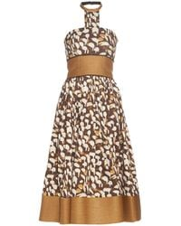 Sophie Theallet - Mogambo Abstract-print Strapless Dress - Lyst