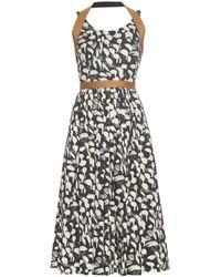 Sophie Theallet - Yolanda Abstract-print Raffia-trimmed Dress - Lyst