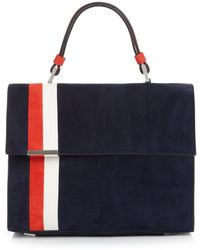 Tomasini Paris - Striped Suede Tote - Lyst