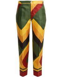 F.R.S For Restless Sleepers - Ceo Geometric-print Wide-leg Silk Pyjama Trousers - Lyst