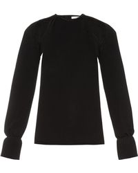 Thomas Tait - Cut-out Pleated-cuff Crepe Top - Lyst
