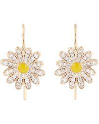 Alison Lou - Diamond, Enamel & Yellow-gold Daisy Earrings - Lyst