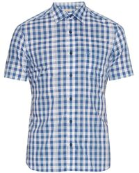 Burberry Brit | Short-sleeved Checked Cotton Shirt | Lyst