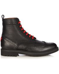 Givenchy - Commando Leather Ankle Boots - Lyst