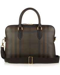 Burberry - The Barrow London Checked Briefcase - Lyst