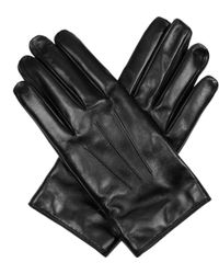 Lanvin - Leather Gloves With Popper Close - Lyst
