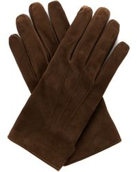 Lanvin - Wool And Cashmere-blend Lined Suede Gloves - Lyst