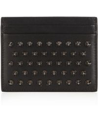 Christian Louboutin - Kios Spike Leather Cardholder - Lyst